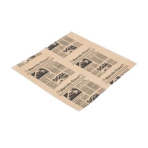 "American Metalcraft 12"" x 12"" Natural Newspaper Fry & Basket Paper"