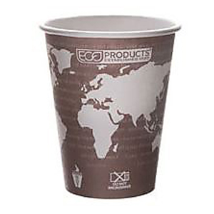 Eco-Products World Art Compostable Hot Cup