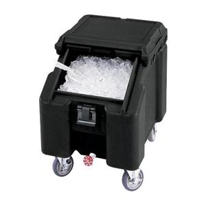 Cambro Black Mobile Slant Top Ice Caddy