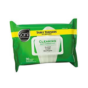 Nice Pak Sani-Professional Table Turners Cleaning Wipes
