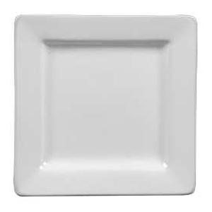 "World Tableware Slate 9"" Ultra Bright White Square Plate"
