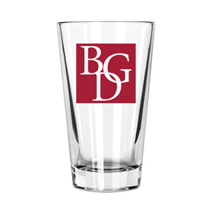 BGD Libbey DuraTuff 14 oz Mixing Glass with Imprint