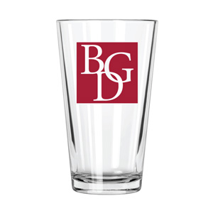 BGD Libbey Restaurant Basics 16 oz Heat Treated Mixing Glass with Imprint
