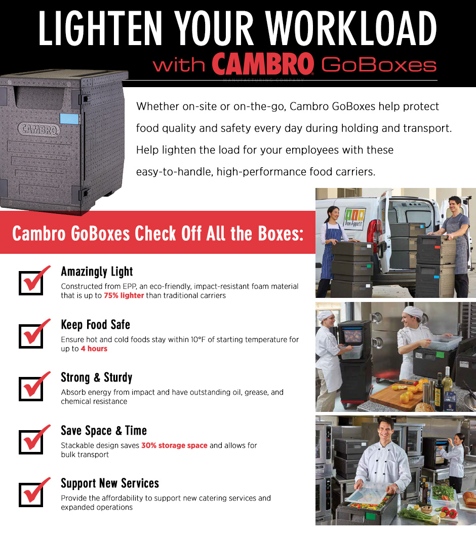 Lighten Your Workload with Cambro GoBoxes