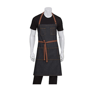 Chef Works Black Memphis Bib Apron