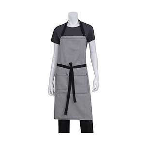 Chef Works Black Portland Bib Apron
