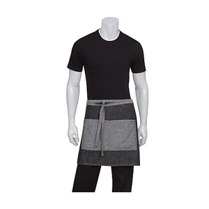 Chef Works Black Manhattan Half Bistro Apron