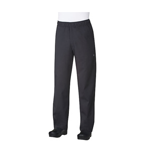 Chef Works Black Basic Baggy Pants