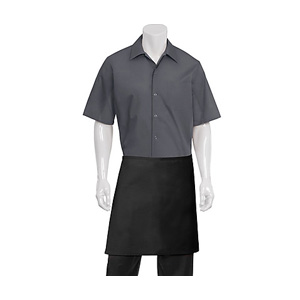 Chef Works Black Half Bistro Apron