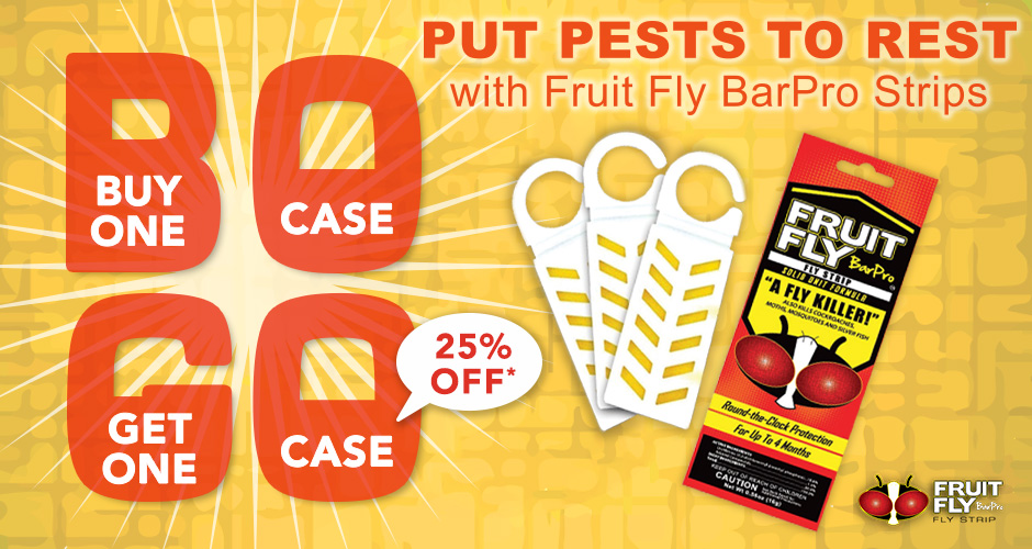 Put Pests To Rest With Fruit Fly Barpro Strips Buy One Case Get