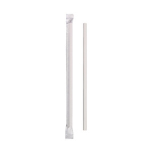 Hoffmaster Wrapped White Paper Straws
