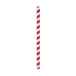 Hoffmaster Unwrapped Red & White Paper Straws