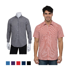 Chef Works Men's Gingham Dress Shirts