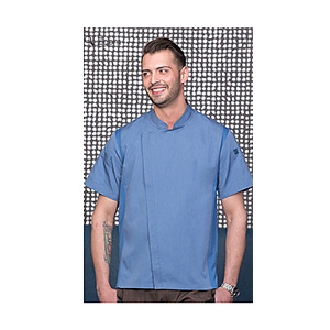 Chef Works Sky Blue Springfield Chef Coat