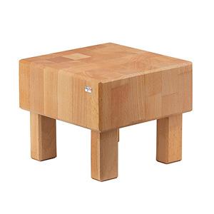 G.E.T. Enterprises Inc. Pure Nature Butcher Block Square Cube Riser Beech Wood Tan