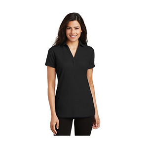 Chef Works Port Authority Ladies Silk Touch Y-Neck Polo
