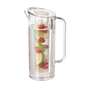 Service Ideas 64 oz Pitcher Flavor Infusion Clear