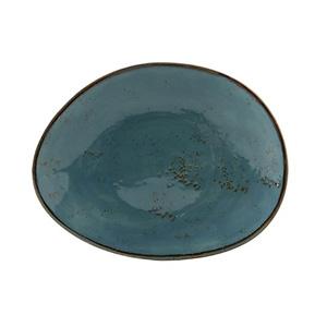 """Tuxton  Ellipse Plate 12"""" Geode Azure"""