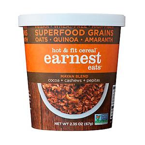 Earnest Eats Hot & Fit 2.35 oz Mayan Blend Cereal Cups