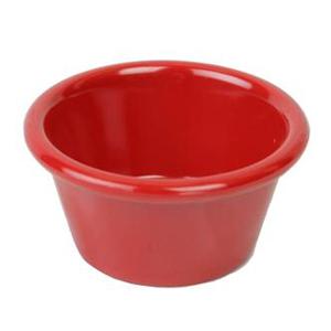 Thunder Group 2.5 oz Melamine Ramekin Pure Red